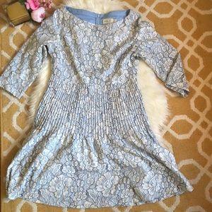 light blue lace overlay eliza j dress size 14